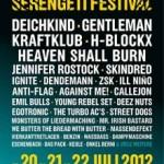 """SERENGETI FESTIVAL 2012 (20. – 22.07.) mit """"Deichkind"""", """"Gentleman"""", """"Kraftklub"""", """"H-Blockx"""", """"Heaven Shall Burn"""", """"Jennifer Rostock"""" uvm."""