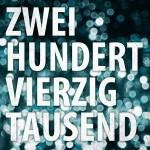 """Tiemo Hauer & Band – Zweihundertvierzigtausend"""" – VÖ: 07.06.13"""