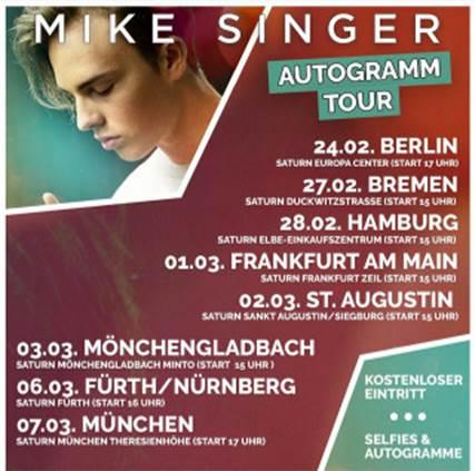 Mike Singer Autogrammtour