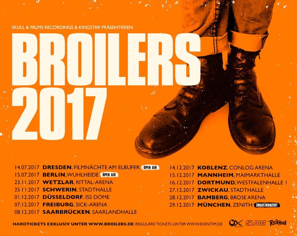 Broilers verlängern ihre Tournee aufgrund der großen Nachfrage!