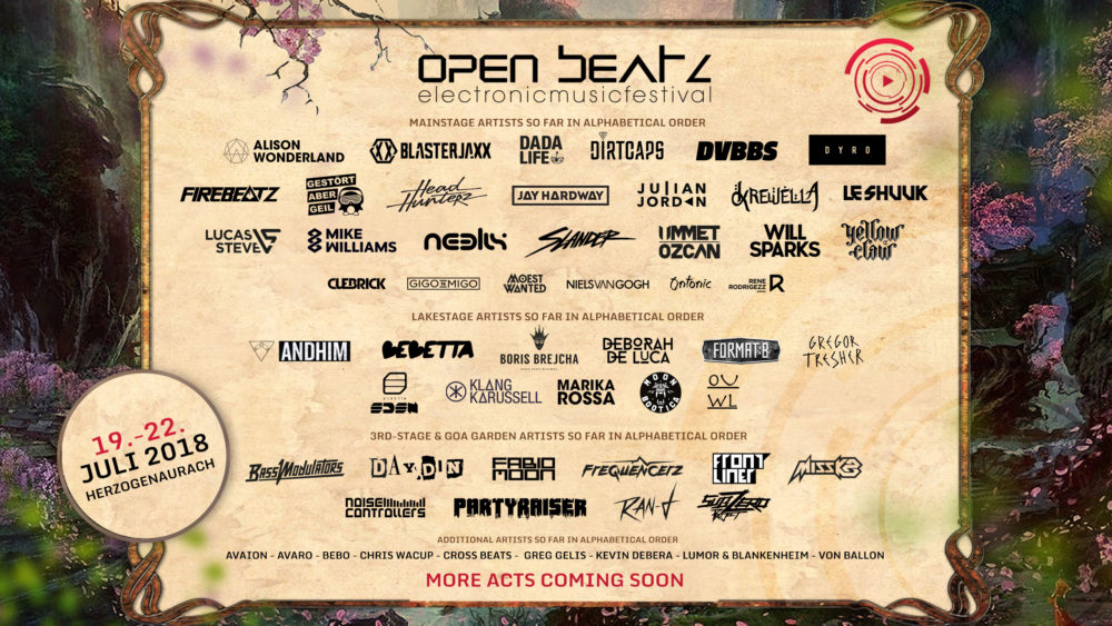 OPEN BEATZ Festival 2018 gibt Full Line Up bekannt
