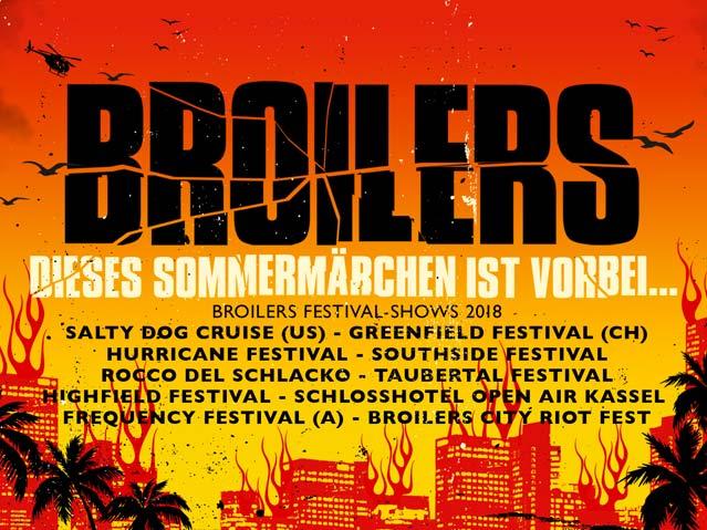 """Broilers 2018 live auf """"Dieses Sommermärchen ist vorbei…"""""""