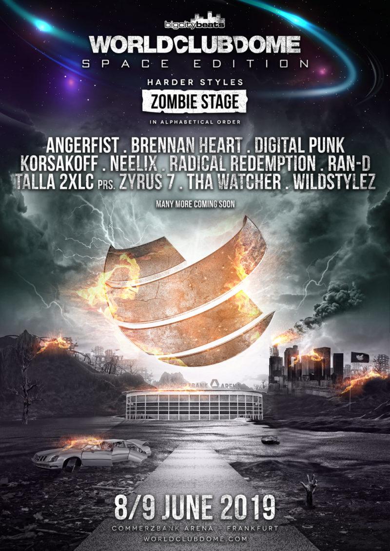 BigCityBeats WORLD CLUB DOME 2019 – Return of the harder Styles: Erste Headliner der Zombie Stage