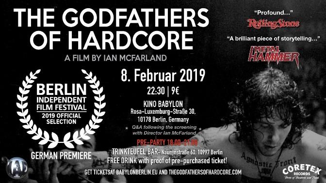 News: Deutschlandpremiere von The 'Godfathers Of Hardcore' am 8.2. in Berlin!