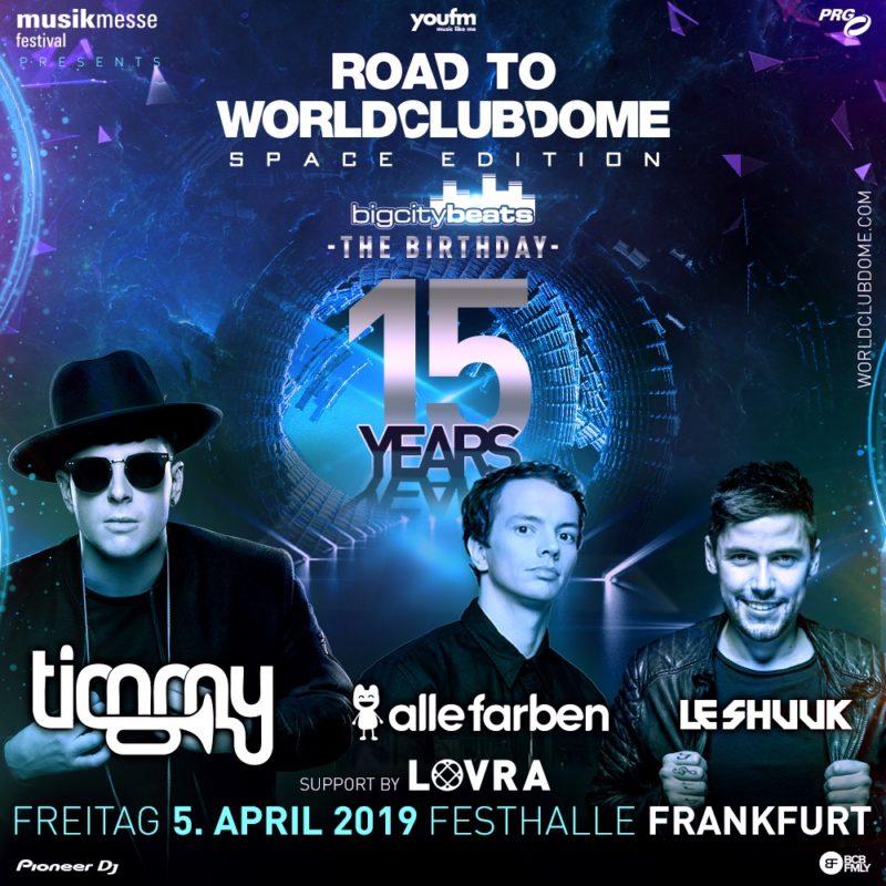 Save the Date: 15 Jahre BigCityBeats - Freitag, 05.04.2019 in der Festhalle Frankfurt